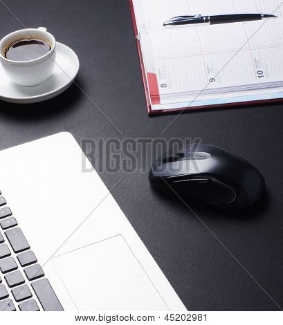 Office equipment on the table