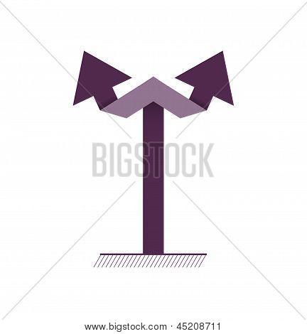 dark double arrow