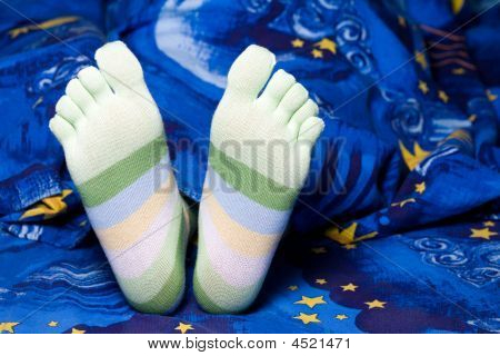 Green Striped Socks