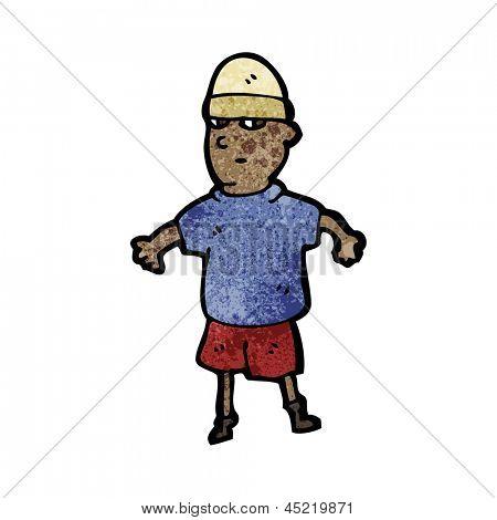 cartoon boy wearing hat