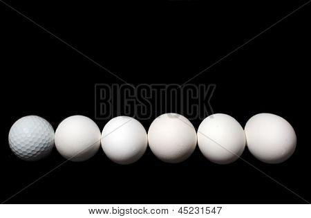 Golf Ball and Eggs
