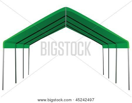 Large industrial shed for different weather conditions. Vector illustration. poster