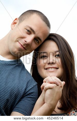 Happy Interracial Married Couple
