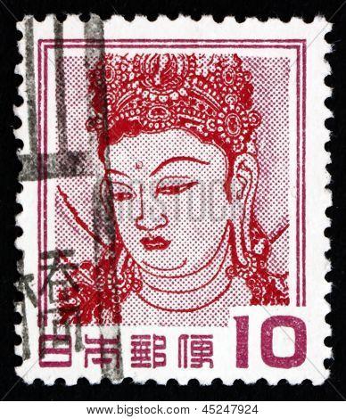 Postage Stamp Japan 1953 Goddess Kannon