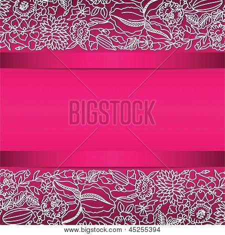 Pink ornamental card