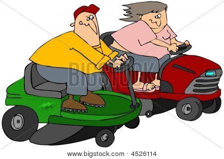 Lawnmower Race