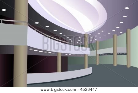 Foyer Of The Concert Hall Vector