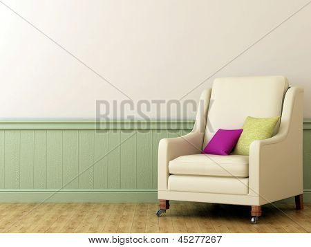 Chair With Colorful Cushions