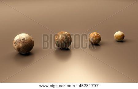 The Moons Of Jupiter Blank