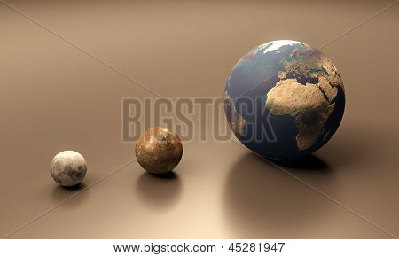 Callisto The Moon And Earth Blank