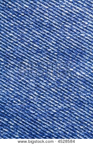 A close-up of the texture of blue jeans fabric poster