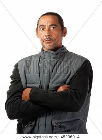 Stern Faced Man