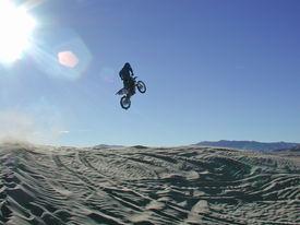 Big Air On Motorcycle