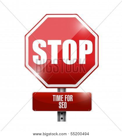 Stop, Time For Sep Concept Road Sign
