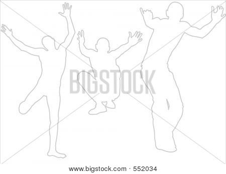Active Silhouettes Jumping