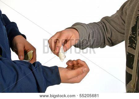 A Drug Dealer With Her Client