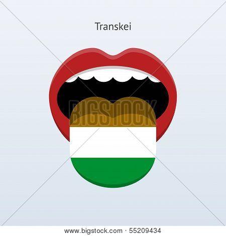 Transkei language. Abstract human tongue.