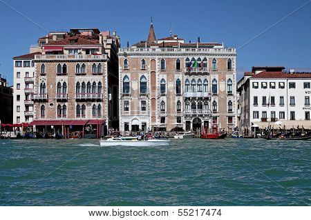 Boat Transport On The Grand Canal In Venicee