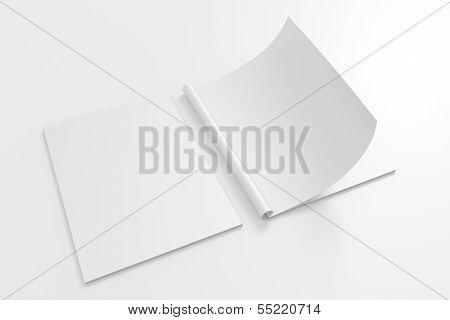 Blank Full Turn Magazine Isolated On White