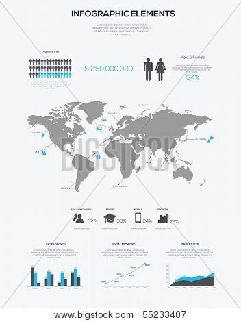 Infographic elements. Vector illustration