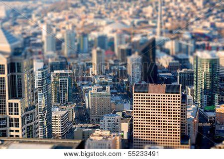 Seattle bird's-eye view, Tittle shift focus effect