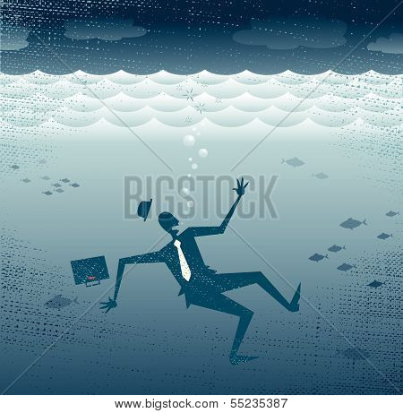 Abstract Business Drowning