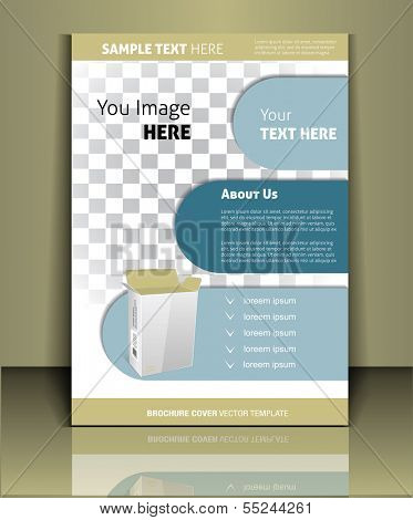 Vector  business brochure or magazine cover  template poster