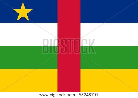 Central African Republic or CRA flag, this version is to scale with Authentic colors poster