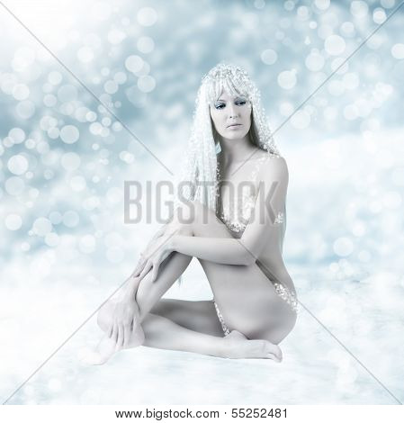 Sexy Beautiful Woman - Snow Queen