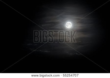 Moon In Clouds