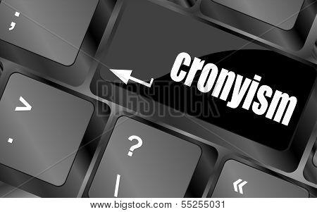 Cronyism On Laptop Keyboard Key Button