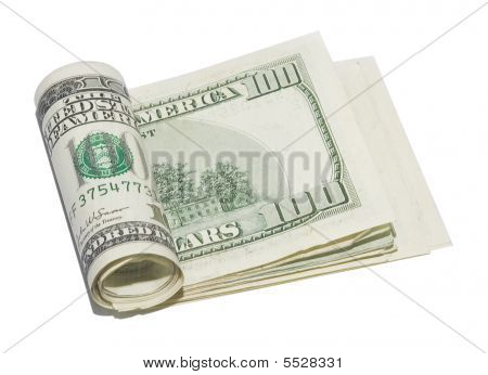 Roll Of Hundred Dollars Bills