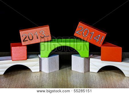 2013 Fading Into 2014 - Concept For New Years Resolutions