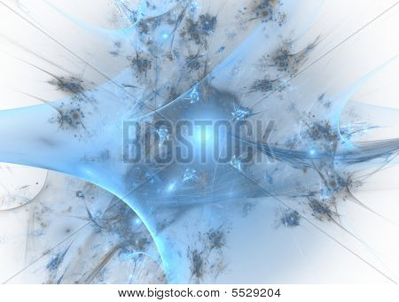 Abstract Rendered Fractal Explosion
