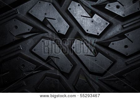 Close Up Of Truck Tire Texture