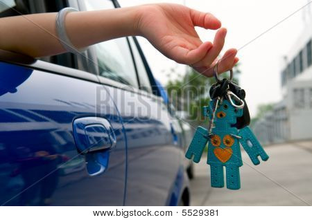 Holding Car Key