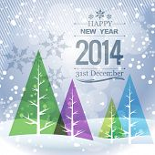 stylish winter new year seasonal holiday greeting poster