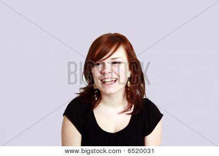 Headshot Of Teen Redhead Girl