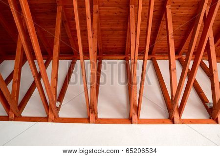 interior of the ridge beams on the veranda cafe
