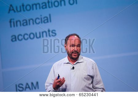 Las Vegas, Nv - May 6, 2014: Ceo Pivotal Paul Maritz Makes Speech At Emc World 2014 Conference On Ma
