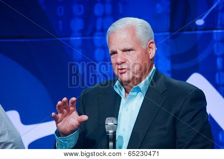 Las Vegas, Nv - May 6, 2014: Emc Ceo Joe Tucci Delivers An Address To Emc World 2014 Conference On M