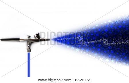 Airbrush Sprinkling Stars