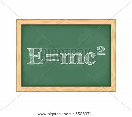 Formula of energy on blackboard, vector eps10 illustration poster