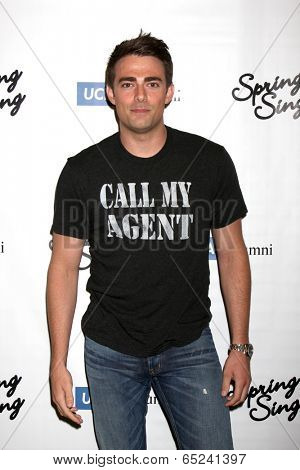 LOS ANGELES - MAY 16:  Jonathan Bennett at the UCLA's Spring Sing 2014 at Pauley Pavilion UCLA on May 16, 2014 in Westwood, CA