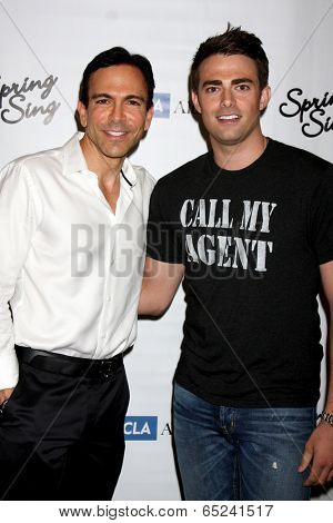 LOS ANGELES - MAY 16:  Bill Dorfman, Jonathan Bennett_ at the UCLA's Spring Sing 2014 at Pauley Pavilion UCLA on May 16, 2014 in Westwood, CA