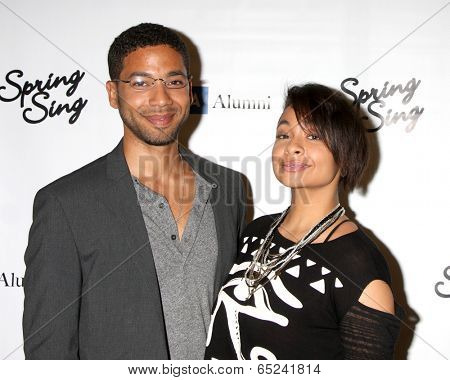 LOS ANGELES - MAY 16:  Jussie Smollett, Raven-Symone at the UCLA's Spring Sing 2014 at Pauley Pavilion UCLA on May 16, 2014 in Westwood, CA