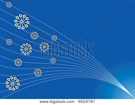 simple christmas blue backdrop