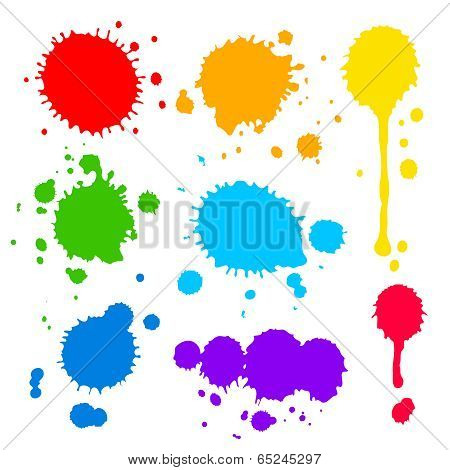 splats and blobs of colored paint