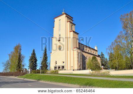 Jyvaskyla Finland. Lutheran Church of the Angels in Taulumaki poster