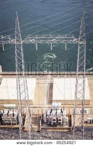 Akosombo Hydroelectric Power Station On The Volta River In Ghana, West Africa.
